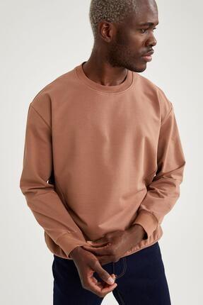 Defacto Oversize Fit Bisiklet Yaka Basic Sweatshirt 2