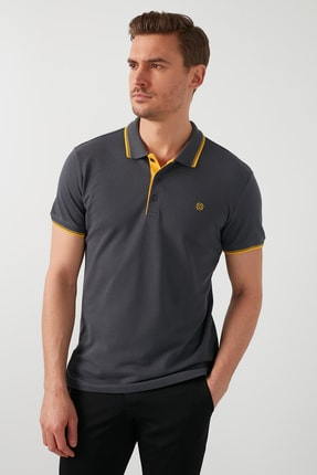 Buratti Erkek % 100 Pamuklu Polo T Shirt 0