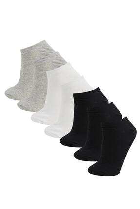 Defacto Kadın Beyaz Patik Çorap 7'li 0