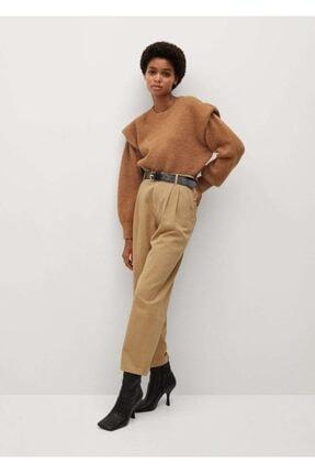 Mango Kadın Kum Bej Pantolon 1