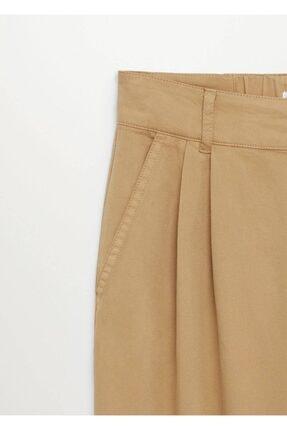 Mango Kadın Kum Bej Pantolon 4
