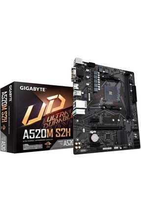 Gigabyte Gıgabyte Amd A520m-s2h A520 Ddr4 5000(Oc) Mhz M2 Pcıe Nvme Hdmı Dvı Pcıe 16x V4.0 Amd Am4 0