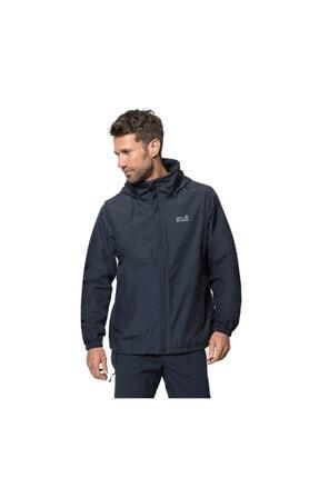 Jack Wolfskin Erkek Lacivert Stormy Point Jacket Outdoor Ceketi M 0