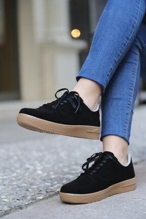 DARKLOW Unisex Siyah Süet Sneaker 2