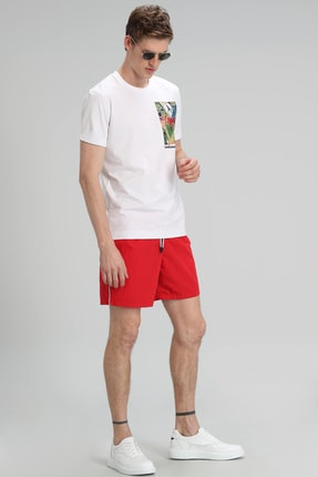 Lufian Monato Modern Grafik T- Shirt Beyaz 2