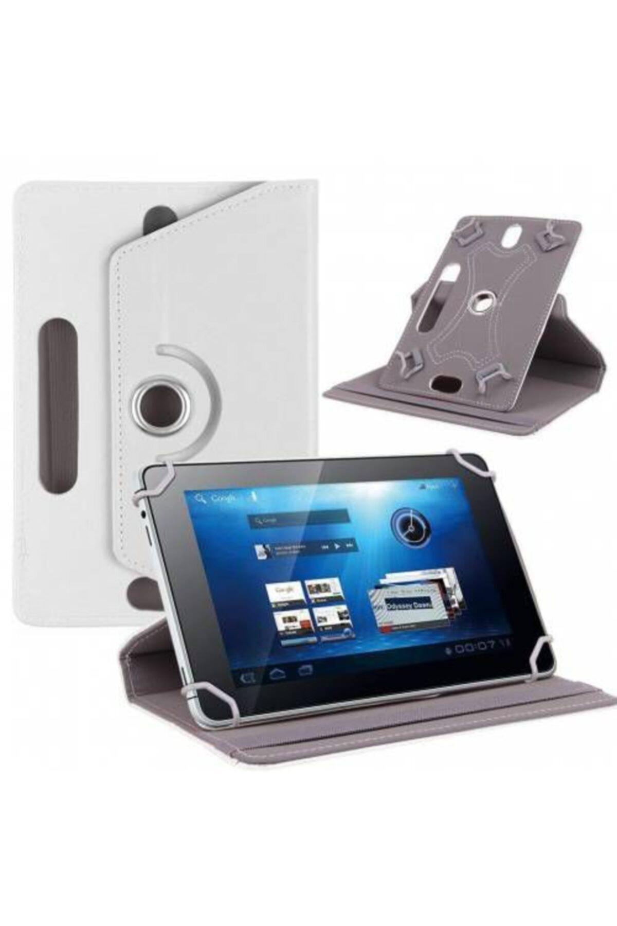 1t 7 7'' Kılıf Universal Tablet Kılıfı 360 Derece Dönerli Standlı Kapaklı