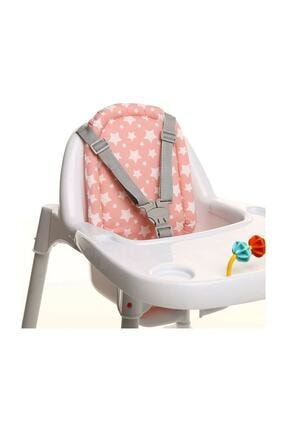 Babyjem Mama Sandalyesi Minderi 403 Pembe Yıldız 0