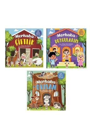 Sincap Kitap Cırt Cırtlı Kitap Seti - Merhaba Çiftlik / Merhaba Orman / Merhaba Duygularım 0