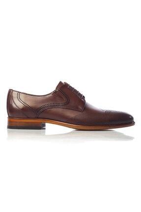 MARCOMEN Kahve Baskılı Hakiki Deri Bağcıklı Erkek Klasik Ayakkabı • A19eymcm0020 0