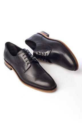 MARCOMEN Siyah Baskılı Hakiki Deri Bağcıklı Erkek Klasik Ayakkabı • A19eymcm0020 3