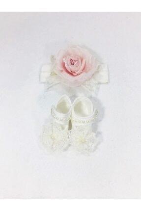 CILGIN BEBEK Yeni Doğan Ayakkabı Bandana Set 0