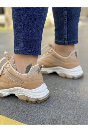 Les Shoes Kadın Bej Lucca Nude  Sneaker 1