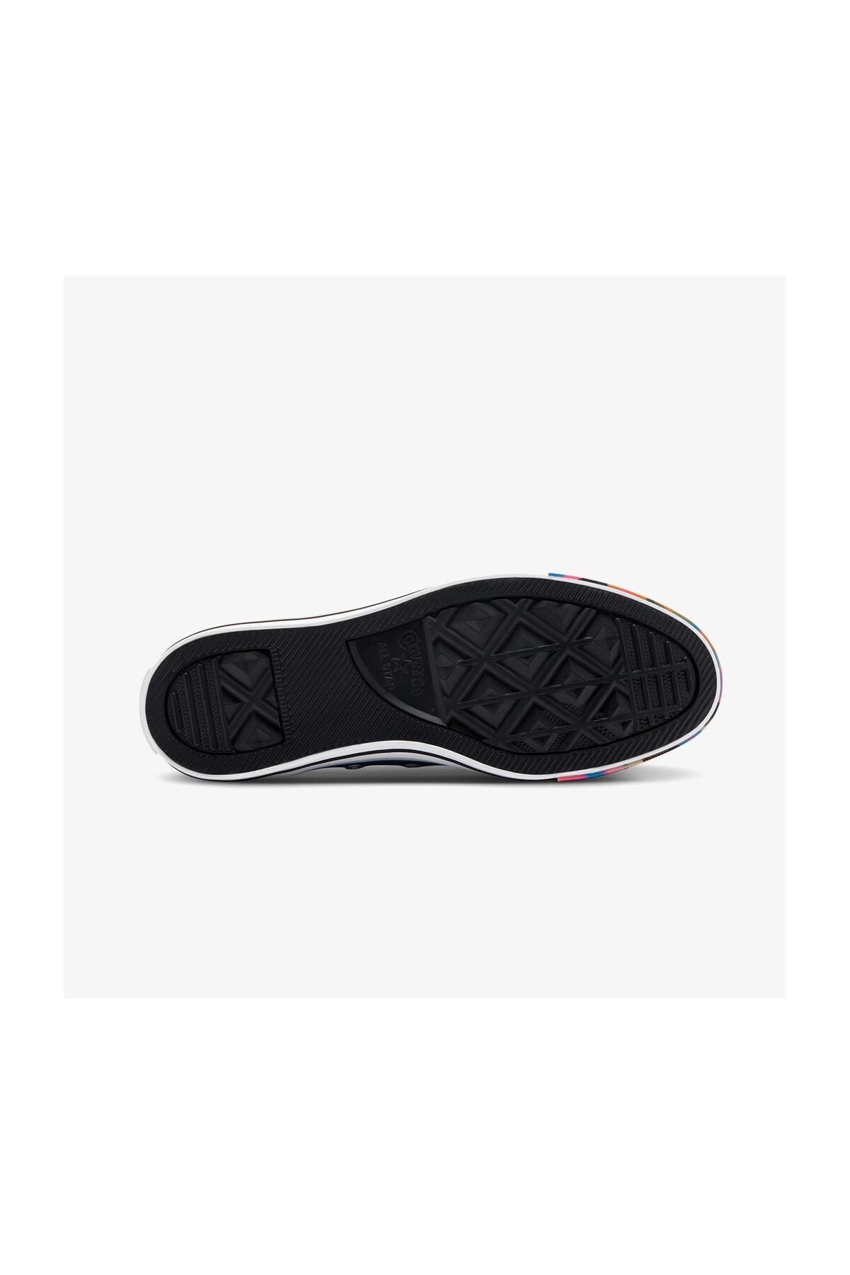 Converse Chuck Taylor All Star Marbled Mash-Up Hi Kadın Siyah Sneaker