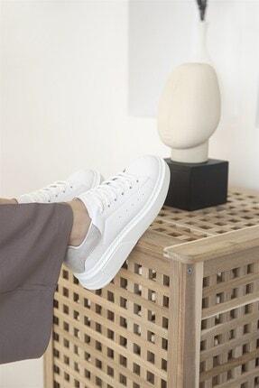 Straswans Huws Kadın Süet Spor Ayakkabı Beyaz-gri 1