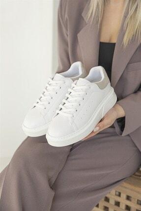 Straswans Huws Kadın Süet Spor Ayakkabı Beyaz-gri 2