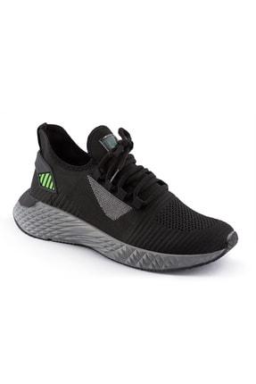 AKX 7 132 Siyah Füme Yeşil Hava Akışlı Erkek Spor Ayakkabı 0