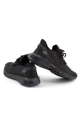 AKX 7 132 Siyah Siyah Hava Akışlı Erkek Spor Ayakkabı 2