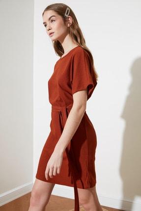 TRENDYOLMİLLA Kiremit Bağlama Detaylı Örme Elbise TWOSS21EL2015 3