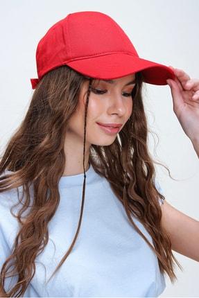 Trend Alaçatı Stili Kadın Kırmızı Unisex Şapka ALC-A2160 1