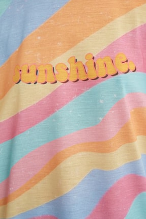 TRENDYOLMİLLA Çok Renkli Loose Örme T-Shirt TWOSS21TS0910 3