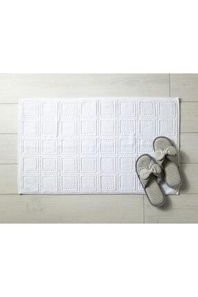 Madame Coco Noemine Ayak Havlusu - Beyaz - 50x80 Cm 1