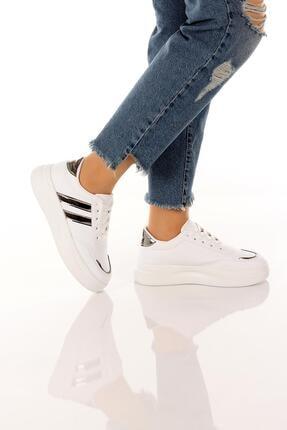 SOBY SHOES Kadın Günlük Rahat Ve Şık Bağcıklı Spor Ayakkabı Sneaker Soby11020031 2