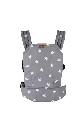 EGGBABY Ergonomik Kanguru Bebek Taşıma Gri Yıldız Desenli 0