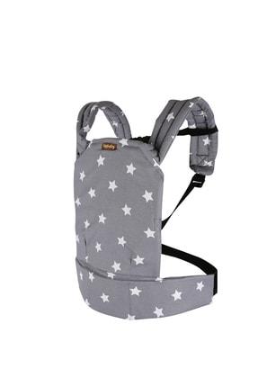 EGGBABY Ergonomik Kanguru Bebek Taşıma Gri Yıldız Desenli 1
