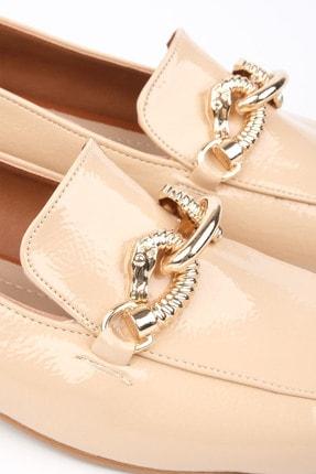 Marjin Kadın Bej Rugan Loafer Ayakkabı Alva 1