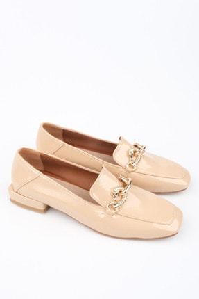 Marjin Kadın Bej Rugan Loafer Ayakkabı Alva 3