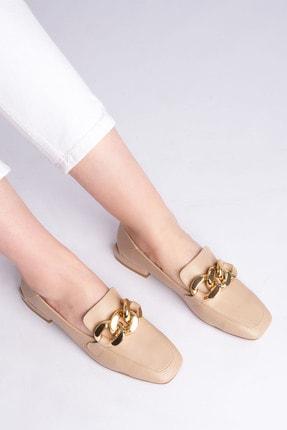 Marjin Kadın Bej Loafer Ayakkabı Modena 1
