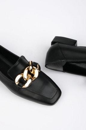 Marjin Kadın Siyah Loafer Ayakkabı Modena 4