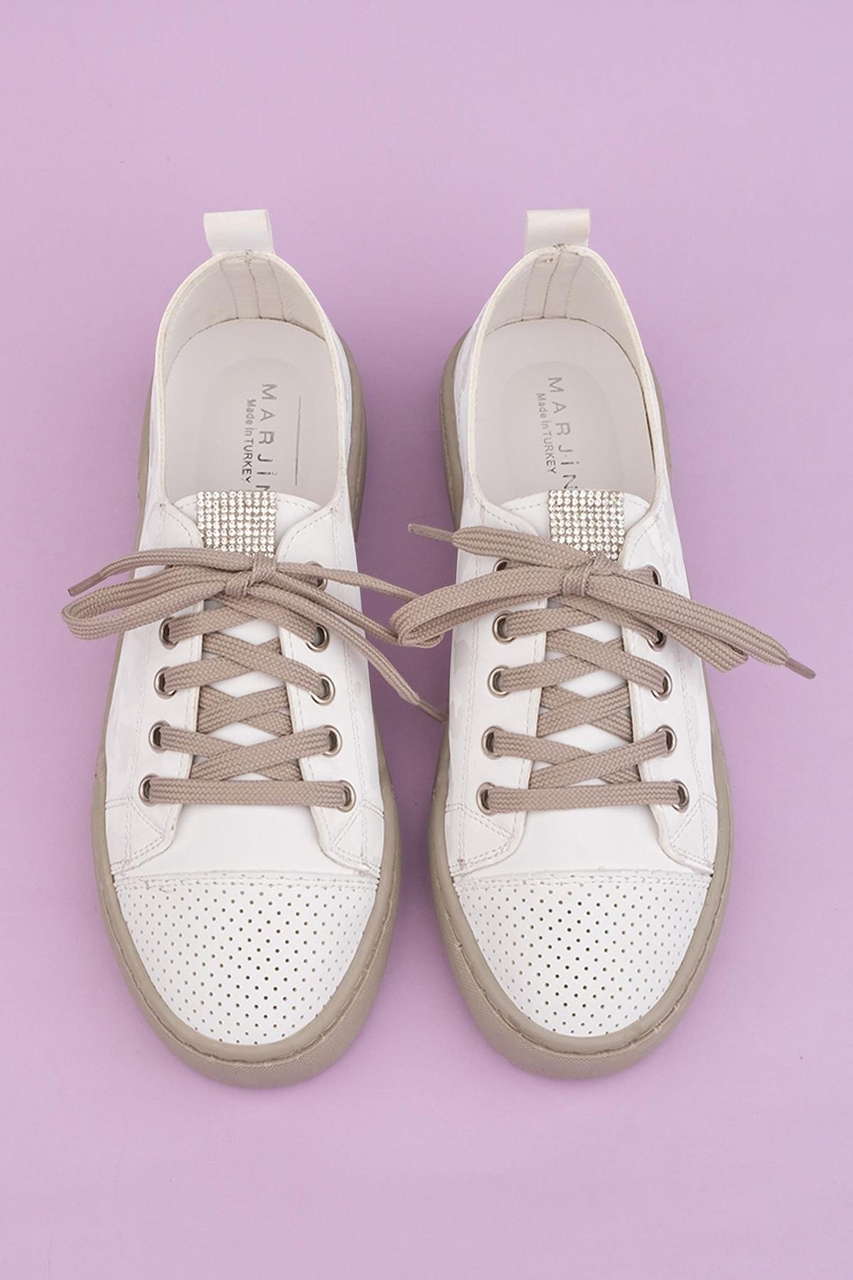 Marjin Kadın Beyaz Sneaker Spor Ayakkabı Range 1