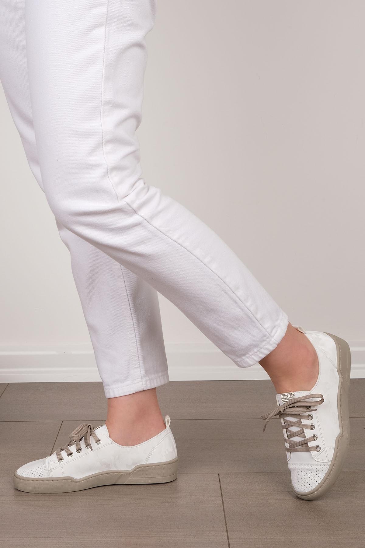 Marjin Kadın Beyaz Sneaker Spor Ayakkabı Range 3
