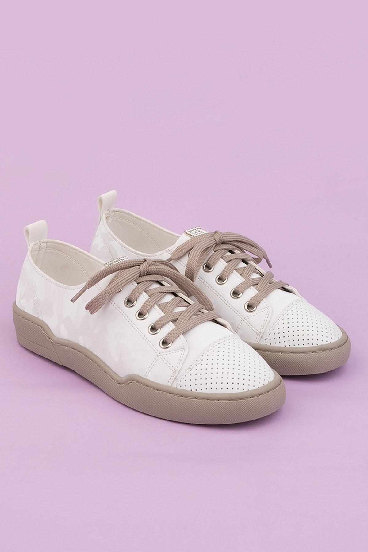 Marjin Kadın Beyaz Sneaker Spor Ayakkabı Range 4