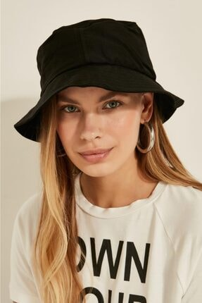 Y-London Kadın Siyah Bucket Şapka 13372 1