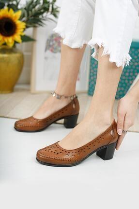 Diego Carlotti Hakiki Deri Kadın Günlük Klasik Topuklu Ayakkabı 2