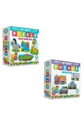 Circle Toys My Best Puzzle Hayvanlar+araçlar Ikili Set 0