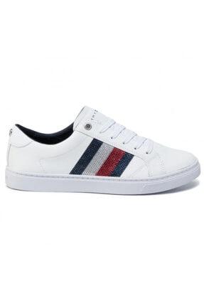 Tommy Hilfiger Kadın Crystal Leather Casual Sneaker Fw0fw04299 100 0