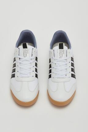 Muggo Erkek Beyaz Bağcıklı Sneaker Mgbarney02 1