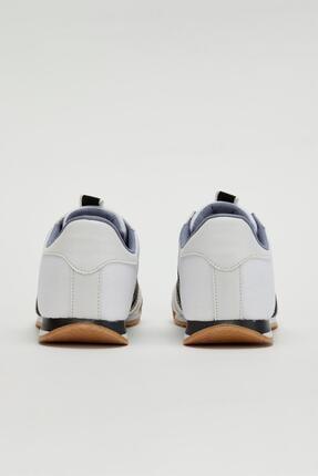Muggo Erkek Beyaz Bağcıklı Sneaker Mgbarney02 2