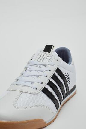 Muggo Erkek Beyaz Bağcıklı Sneaker Mgbarney02 4