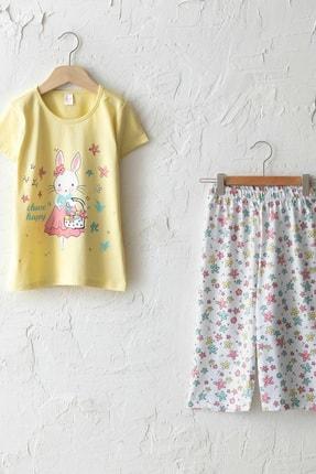 LC Waikiki Kız Çocuk Sarı Frn Pijama Takımı 0