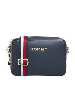 Tommy Hilfiger Kadın Mavi Omuz Çantası Iconıc Tommy Camera Bag AW0AW08608 0