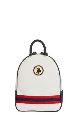 US Polo Assn Beyaz-lacıvert Kadın Sırt Çantası Us8218 1