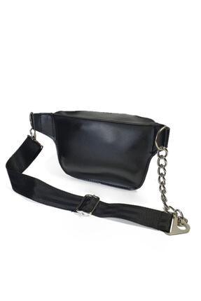 Güce Kadın Zincir Detaylı Askılı Siyah Bel Ve Omuz Çantası Gc007900f 2