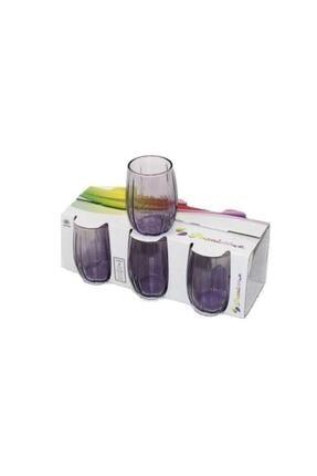 Paşabahçe 3'lü Lınka Mor Meşrubat Bardağı 420415 2