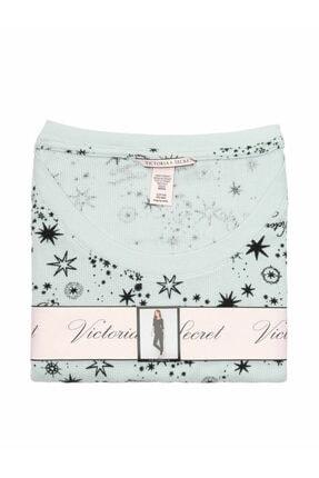 Victoria's Secret Kadın Beyaz Termal Uzun Pijama Takımı 2