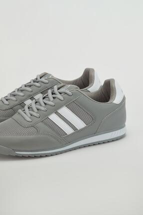 Muggo Erkek Gri Sneaker Ayakkabı Mgpalermo02 3