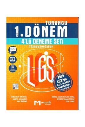 Mozaik Yayınları 8. Sınıf Lgs 1. Dönem 4 Deneme Seti 2020 Yeni 0